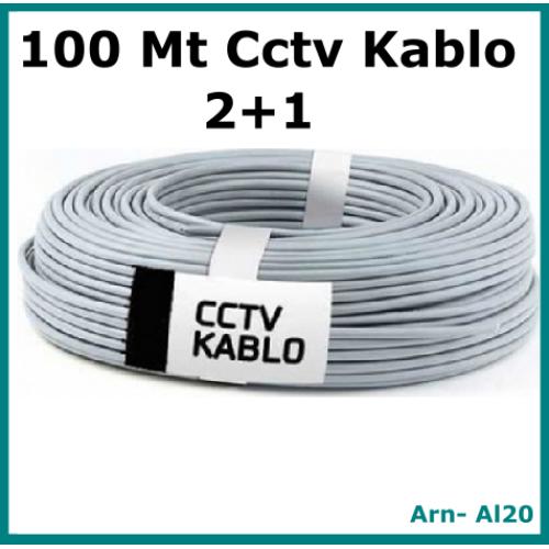 2+1 100 Metre 0,22 CCTV Kamera Kablosu
