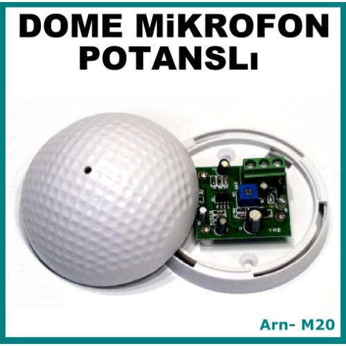 Dome Tipi Mikrofon Ses Kartı Potanslı