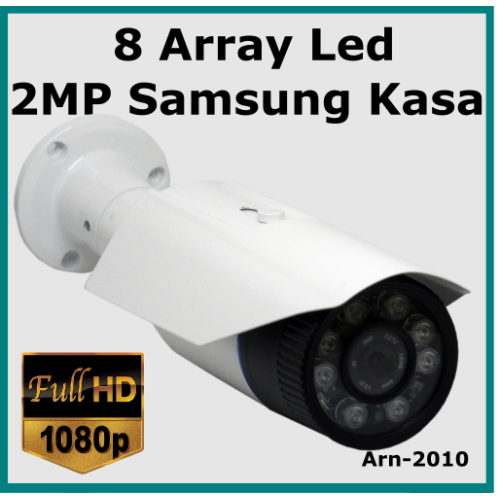 8 Array Led Full Hd Samsung Kasa 3.6MM Güvenlik Kamerası Arn-2010