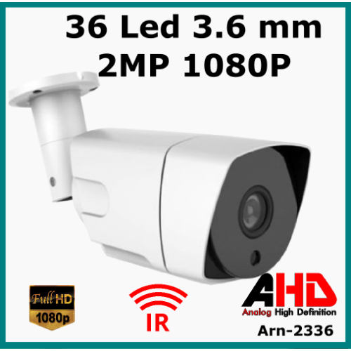 2 MP 1080P  36 Led 3.6 MM Lens AHD  Güvenlik Kamerası  Arn 2336