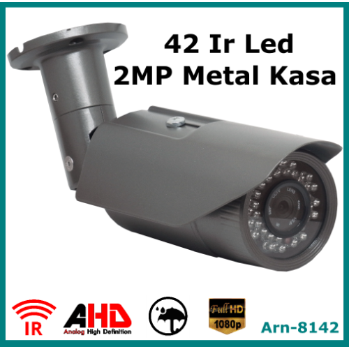 Full Hd 2Mp Arna 8142 Metal Kasa Güvenlik Kamerası