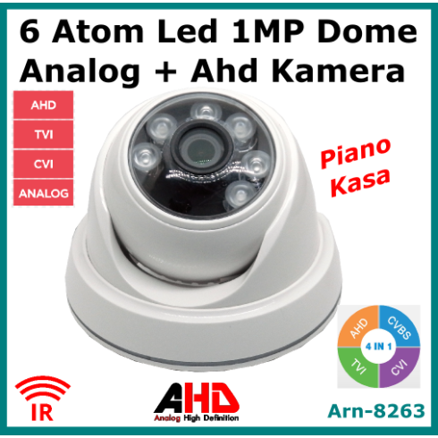 1 Mp Analog+ Ahd Dome Kamera Arna8263