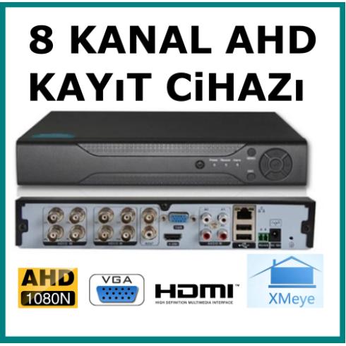 8 Kanal Ahd 1080 2MP Kamera Kayıt Cihazı
