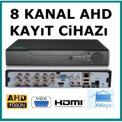 8 Kanal Ahd 1080 2MP Hybrid Kamera Kayıt Cihazı