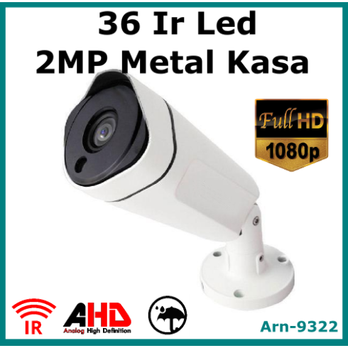Full Hd 1080P 36 Ir Led Metal Kasa Güvenlik Kamerası Arn9322