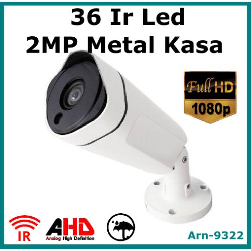 Full Hd 1080P 36 Ir Led Metal Kasa Güvenlik Kamerası Arn9322