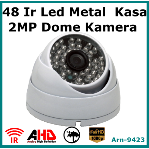 2Mp Full Hd Metal Kasa 48 Led Dome Kamera Arna9423