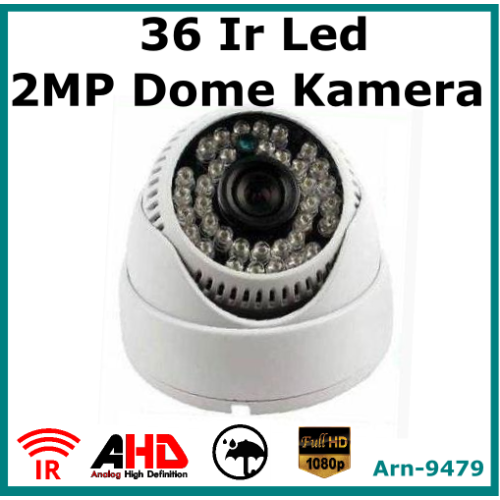 2Mp Plastik Kasa 36 Ir Led Dome Kamera Arna9479