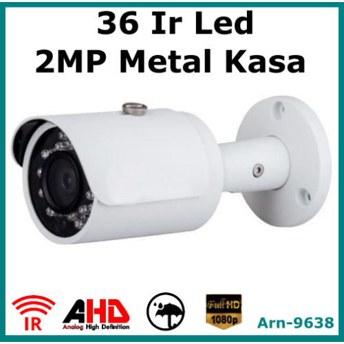 2MP Full Hd 36 Irled Metal Kasa Güvenlik Kamerası Arn9638