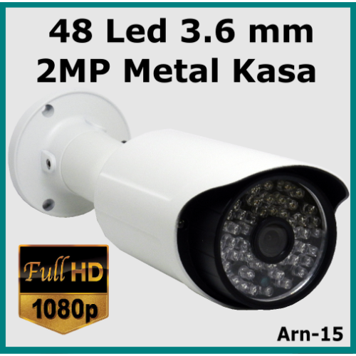 48 Led 3.6 mm Full Hd  2 Mp Güvenlik Kamerası Arn-15