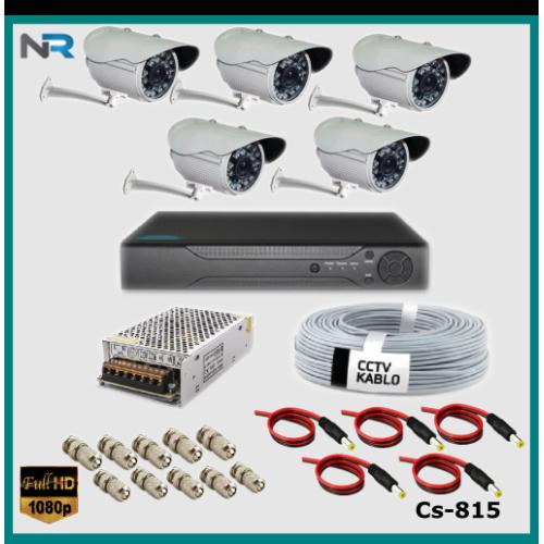 5 Kameralı Güvenlik Kamerası Sistemi AHD 1080P ( Cs 815 ) Harddisksiz