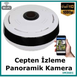 360 Derece Mini Panoramik Kamera Kablosuz Full Hd
