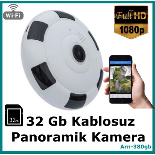 Panoramik Kablosuz Bakıcı Kamerası 32 Gb Full Hd