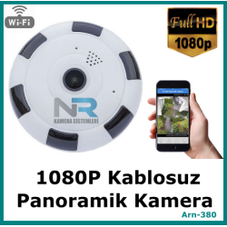 Kablosuz Panaromik Kamera 1080P 2MP Full Hd