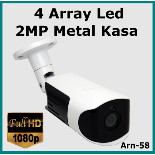 Full Hd 2 Mp 4 Array Led 3.6mm Güvenlik Kamerası Arn-58