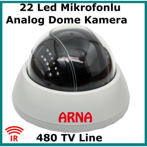 Mikrofonlu Gece Görüşlü Analog Kamera