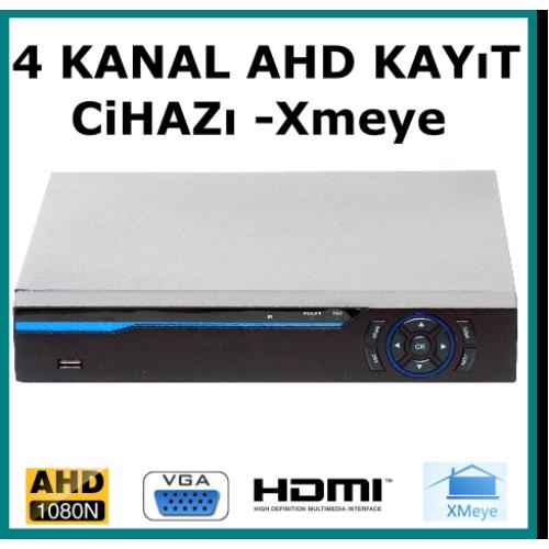 4 Kanal Ahd 1080 2MP Kamera Kayıt Cihazı Hybrid Xmeye