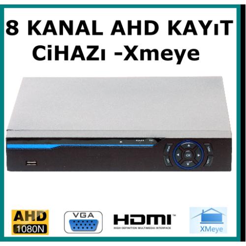 8 Kanal Ahd 1080 2MP Kamera Kayıt Cihazı Xmeye