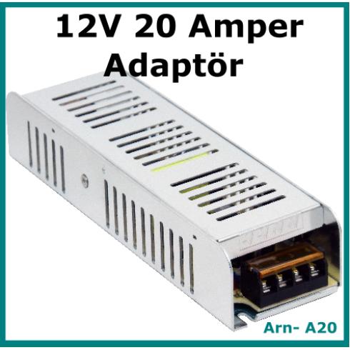 12 Volt 20 Amper Kamera-Led Adaptörü