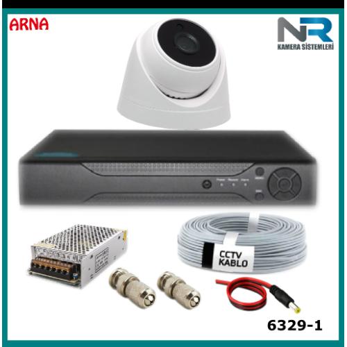 1 Kameralı Güvenlik  Seti Ahd 2Mp (Harddisksiz)