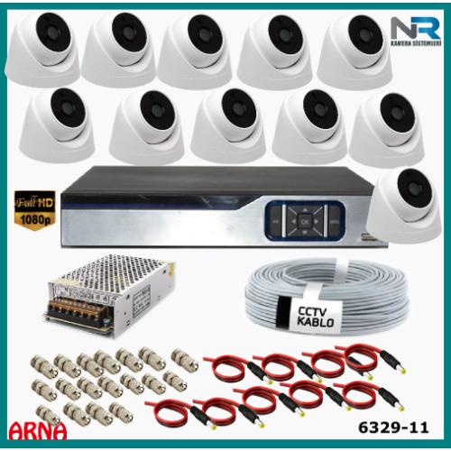 11 Kameralı İç Mekan Güvenlik  Seti Ahd 2Mp (Harddisksiz)