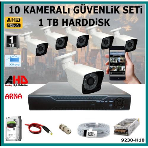 10 Kameralı Güvenlik Kamera Seti 2 Tb Hdd (9230-H10)