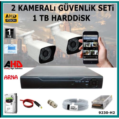 2 Kameralı Güvenlik Kamera Seti 1 Tb Hdd (9230-H2)