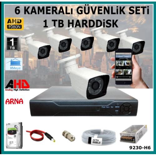 6 Kameralı Güvenlik Kamera Seti 1 Tb Hdd (9230-H6)