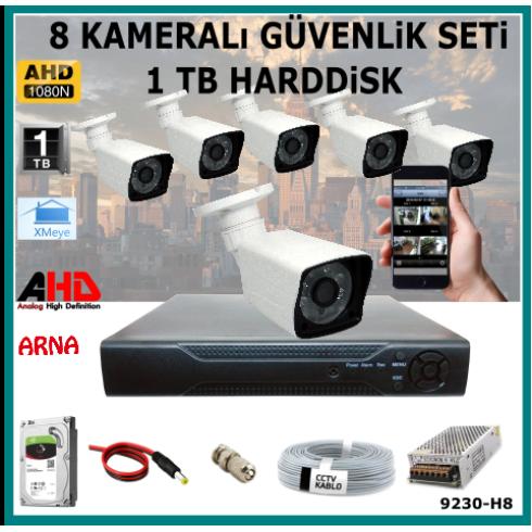 8 Kameralı Güvenlik Kamera Seti 1 Tb Hdd (9230-H8)