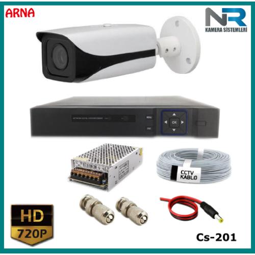 1 Kameralı Güvenlik Kamerası Sistemi AHD 1080P ( Cs 201) Harddisksiz