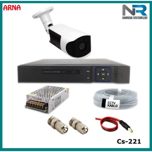 Güvenlik Kamerası Sistemi 1 Kameralı AHD 1080P ( Cs 221)