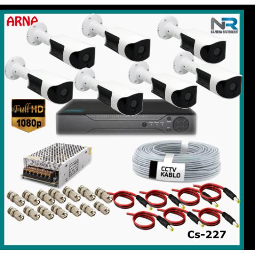 Güvenlik Kamerası Sistemi 7 Kameralı AHD 1080P ( Cs 227) Hardisksiz