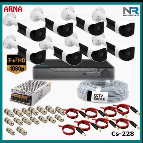 Güvenlik Kamerası Sistemi 8 Kameralı AHD 1080P ( Cs 228) Hardisksiz