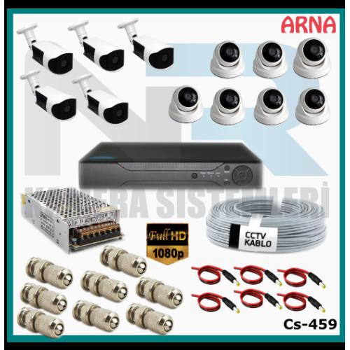 12 Kameralı (7 iç 5 dış) Güvenlik Kamerası Sistemi AHD 1080P ( Cs 459) Hardisksiz