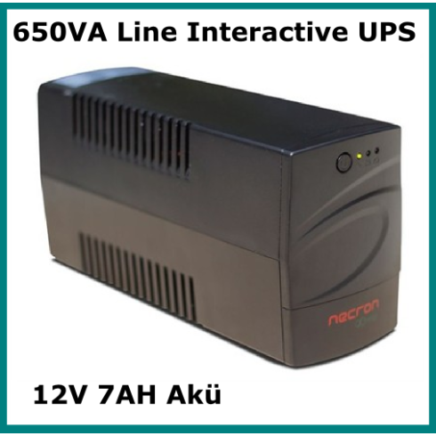 650VA Line Interactive UPS Necron FR Serisi