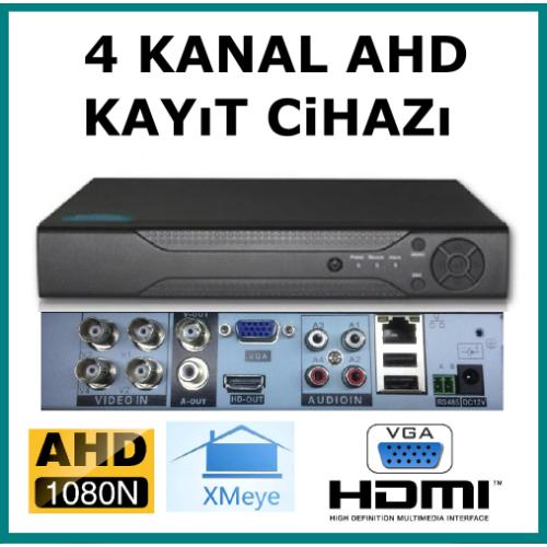 4 Kanal Ahd 1080 2MP Kamera Kayıt Cihazı Xmeye