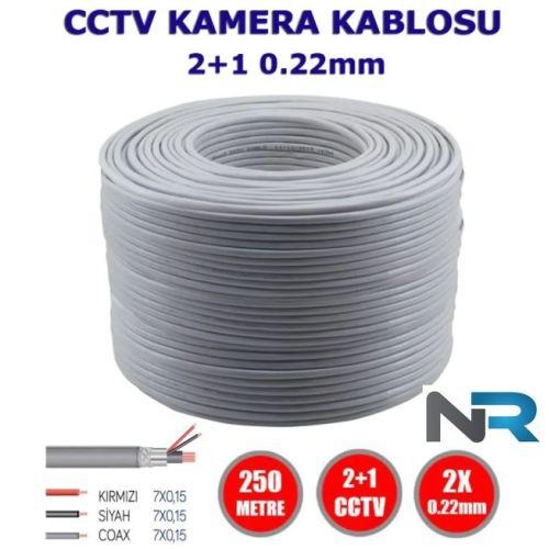 2+1 250 Metre 0,22 CCTV Kamera Kablosu