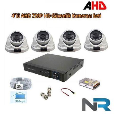 4 Kameralı Dome İç Mekan Güvenlik Kamerası Sistemi AHD 720P ( Cs 2024 )